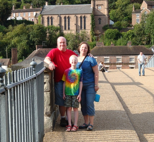 on the iron bridge