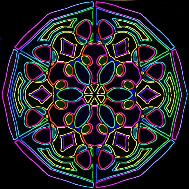 Neon Rosette