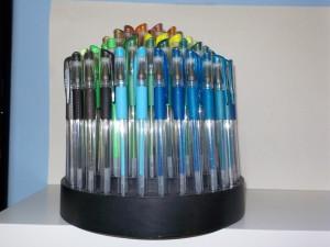Pens taken with the tiny Nikon S02.