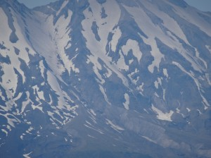 "Mount St. Helens at 60x zoom (this is the ""Clear Image Zoom"" on, but the digital zoom still off)."